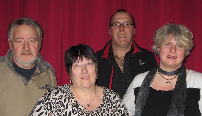 Der Vorstand der Crowns & Flames. Von links nach rechts: Josef Susota, Brigitte Thissen, Tom Limbach, Petra Limbach